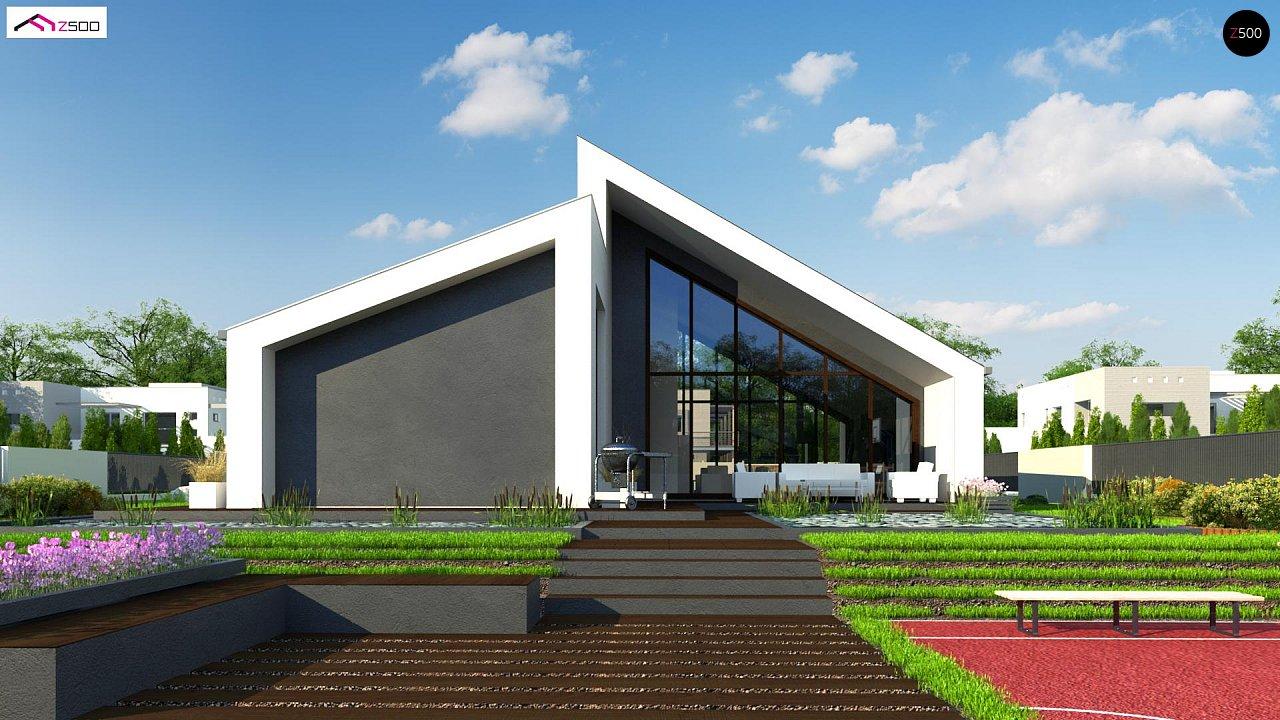Современный дом с просторной гостиной и большим остеклением - фото 6