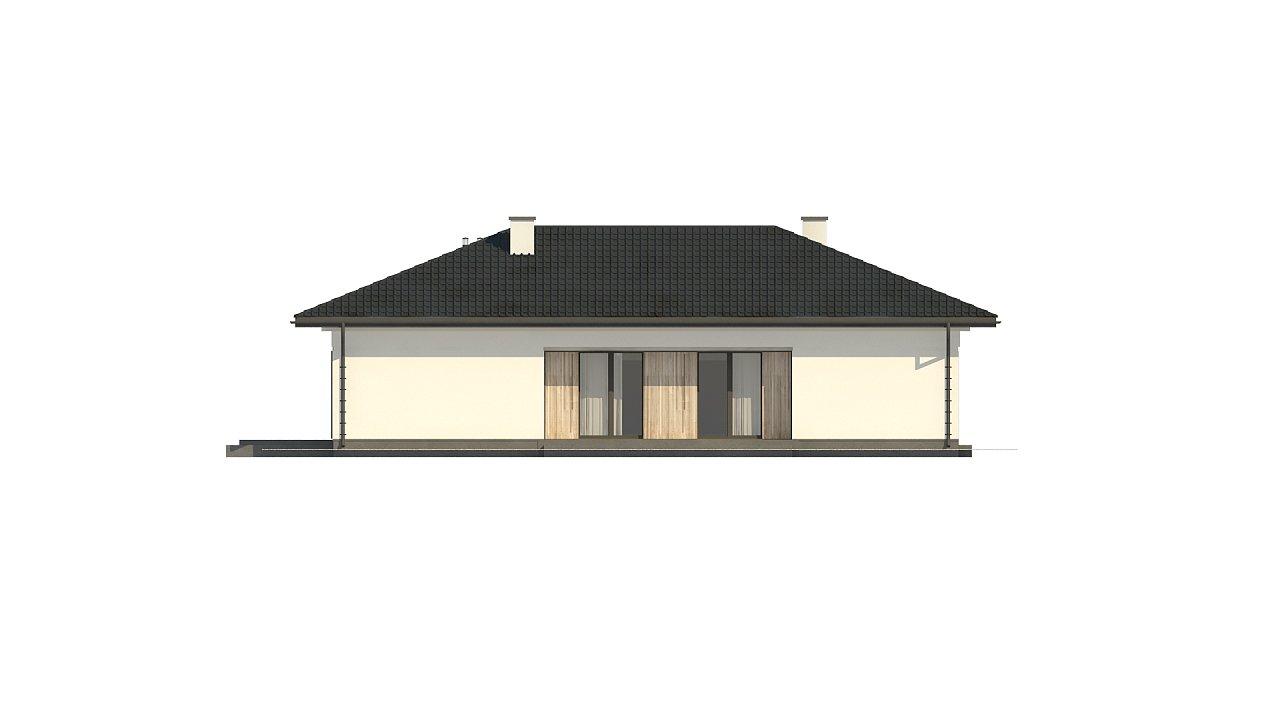 Дом для узкого участка с 4-х скатной крышей - фото 8