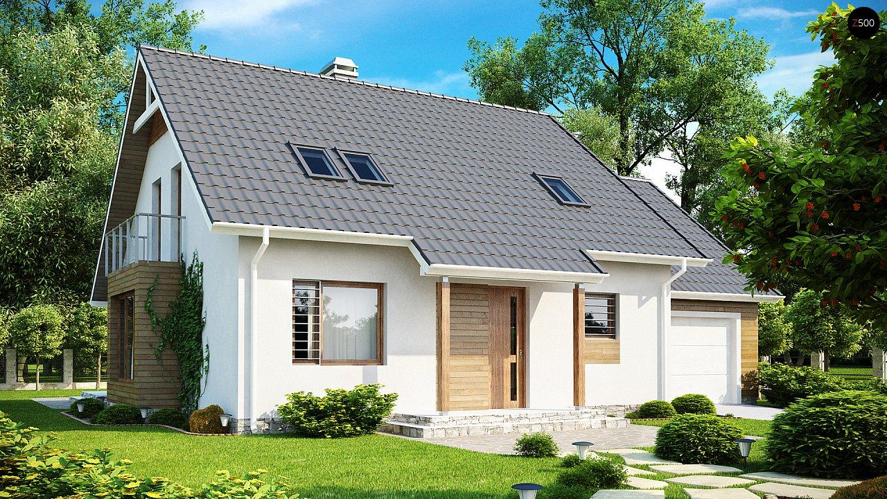 Проект функционального и удобного дома с комнатой над гаражом. 1