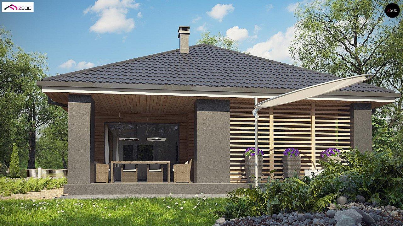 Одноэтажный дом в современном стиле с двойным гаражом 8