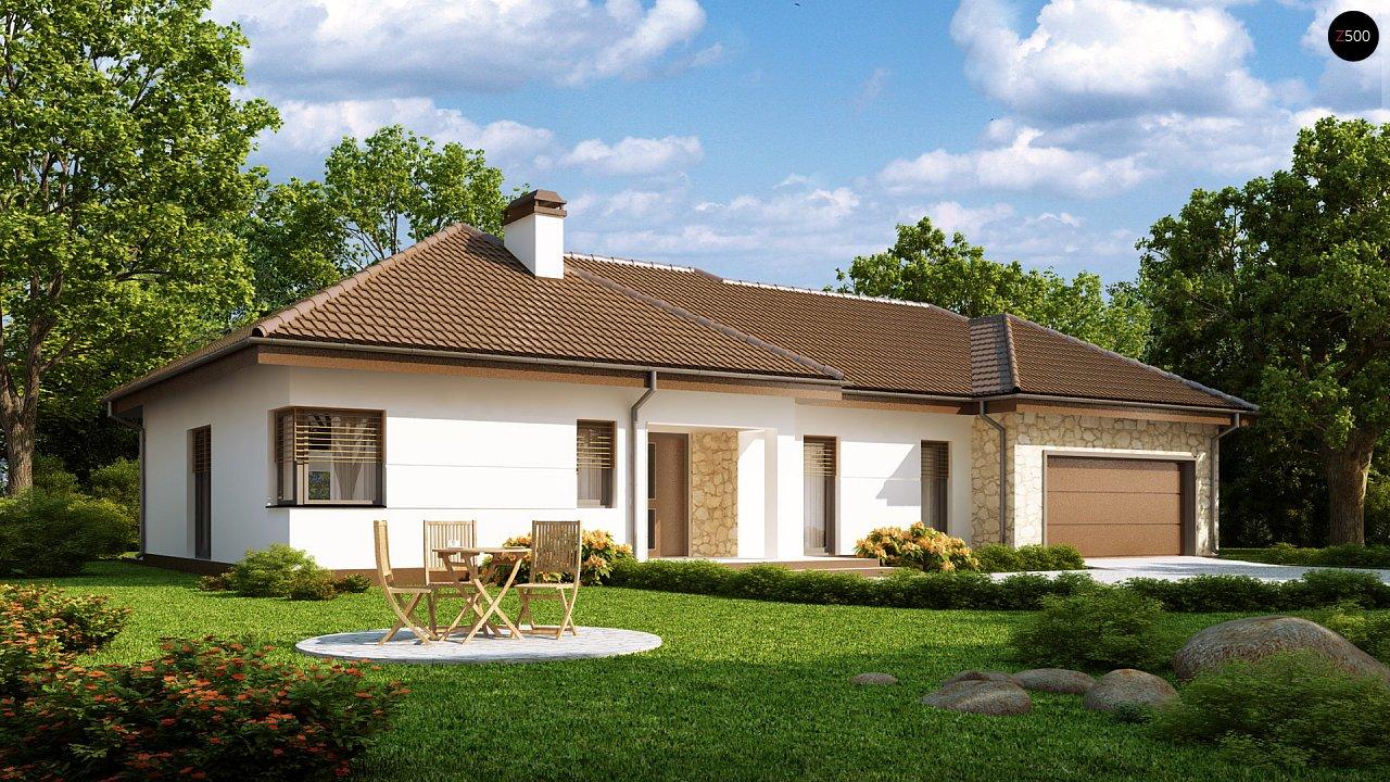 Функциональный удобный дом с гаражом на два автомобиля и большим хозяйственным помещением. - фото 1