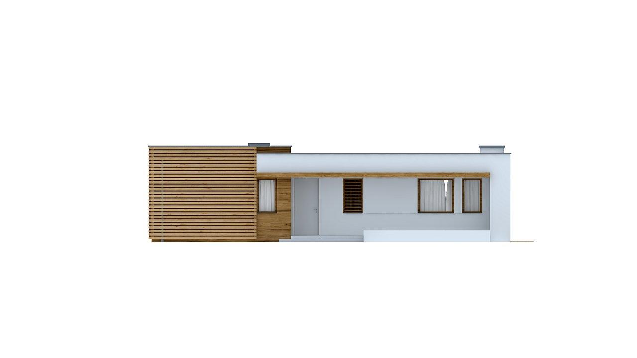 Современный комфортабельный одноэтажный дом с функциональным интерьером и уютной террасой. 25