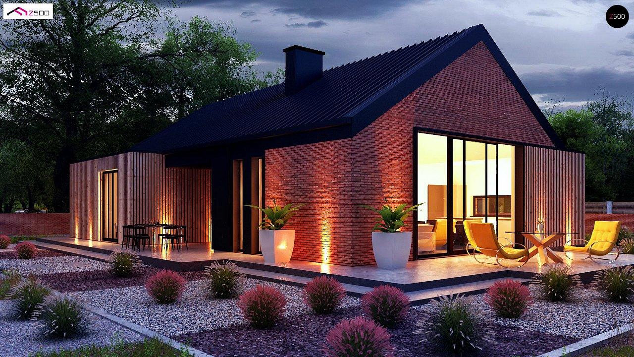 Одноэтажный дом с дополнительным пространством на чердаке 3