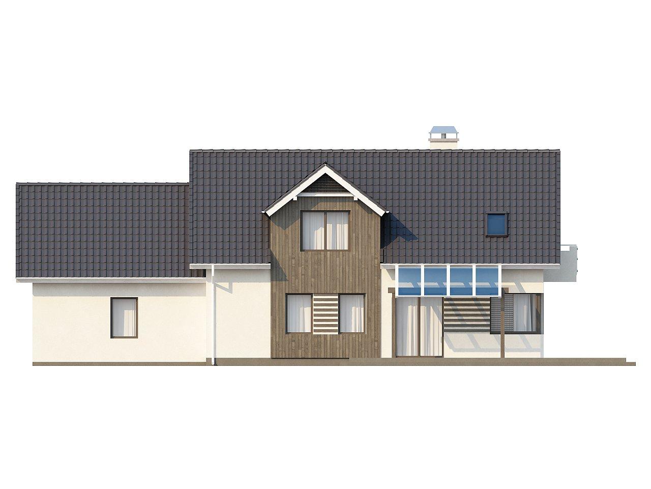 Просторный функциональный дом с гаражом, красивыми мансардными окнами и дополнительной спальней на первом этаже. - фото 5