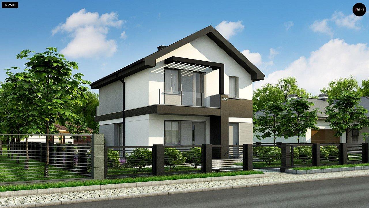 Компактный двухэтажный дом для узких участков. - фото 3