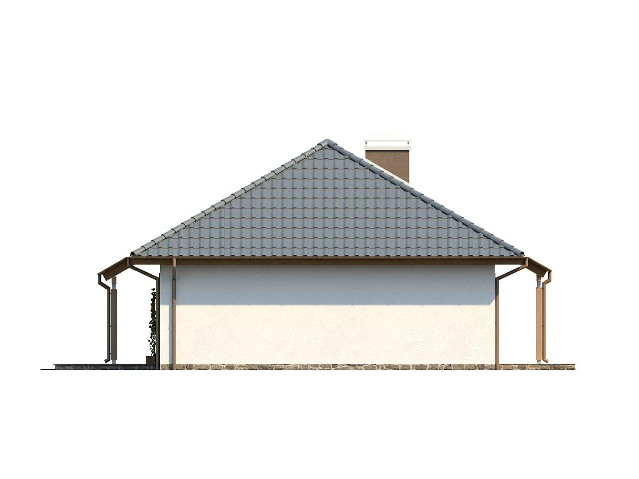 Проект практичного одноэтажного дома в традиционном стиле. 17