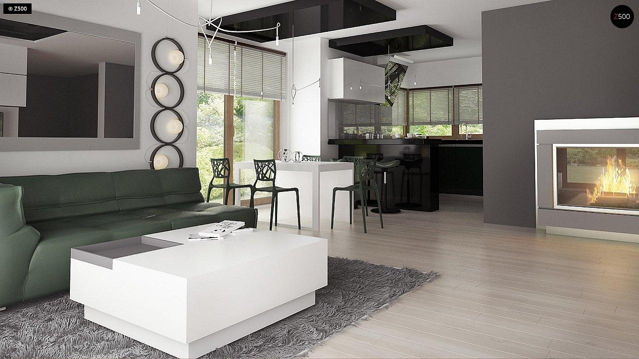 Дом традиционной формы с современными элементами в архитектуре. Уютный и функциональный интерьер. - фото 8