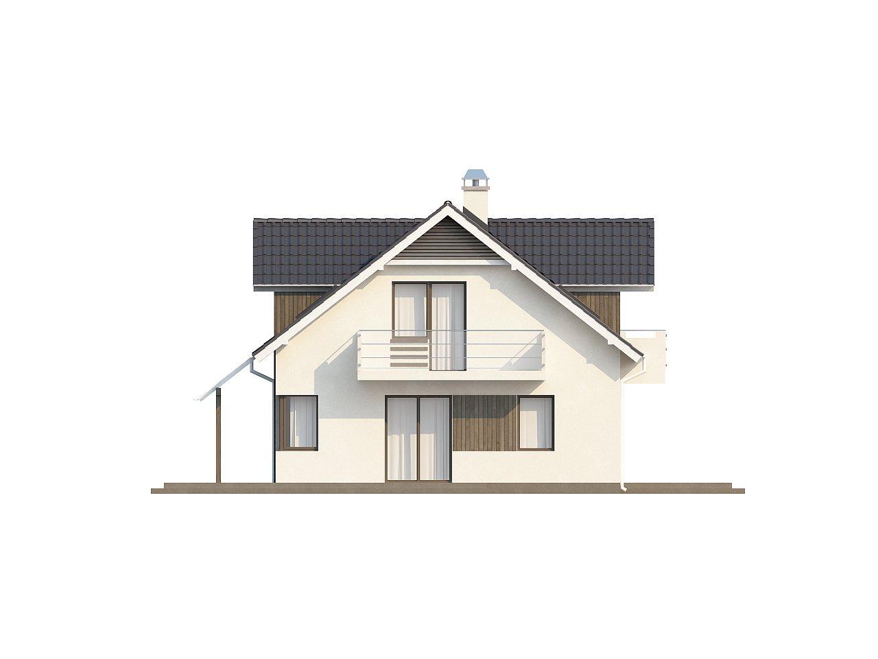 Просторный функциональный дом с гаражом, красивыми мансардными окнами и дополнительной спальней на первом этаже. - фото 4