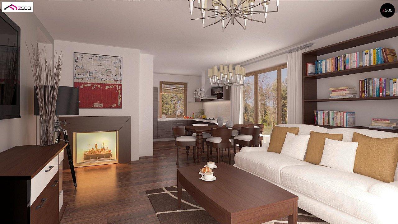 Проект простого и аккуратного дома с дополнительной ночной зоной на первом этаже. 4