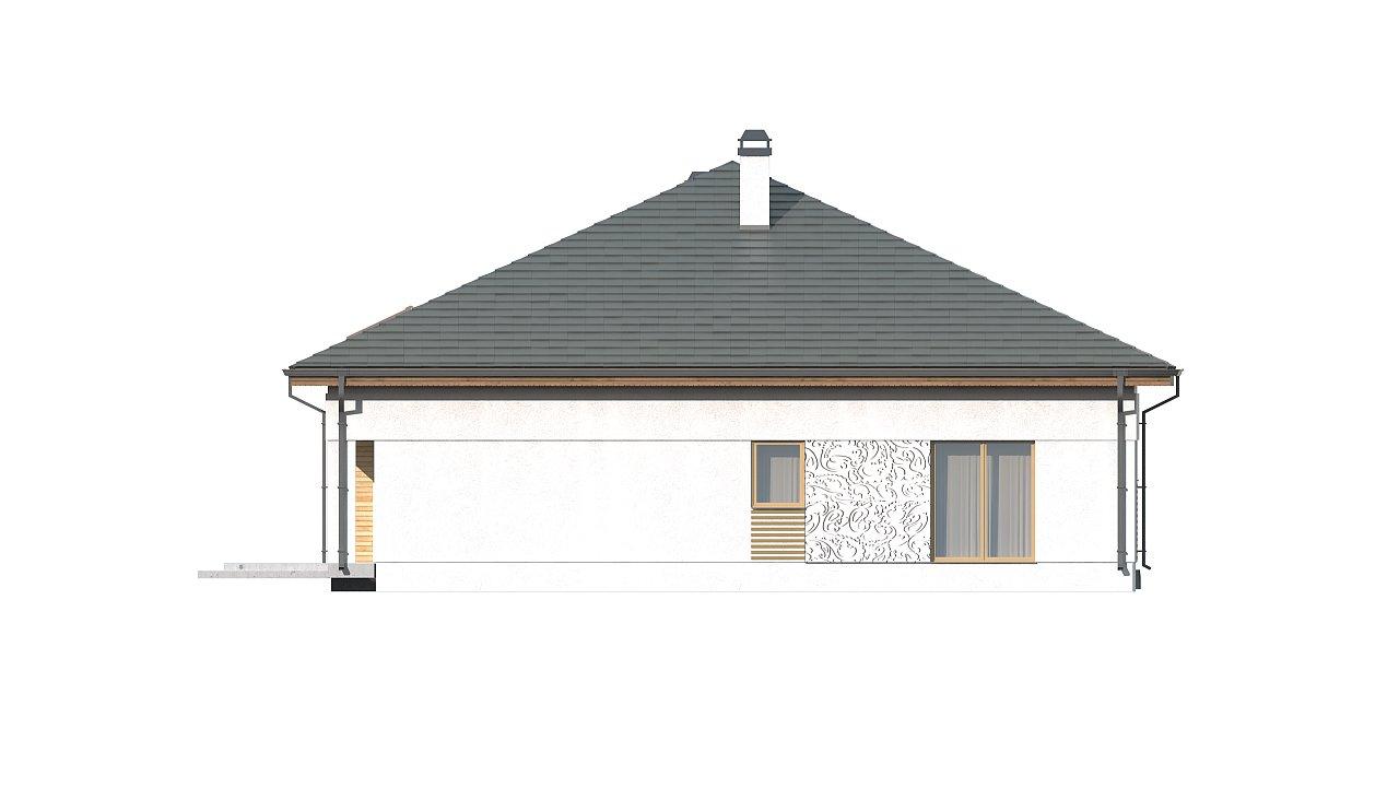 Проект просторного дома с многоскатной крышей. 8
