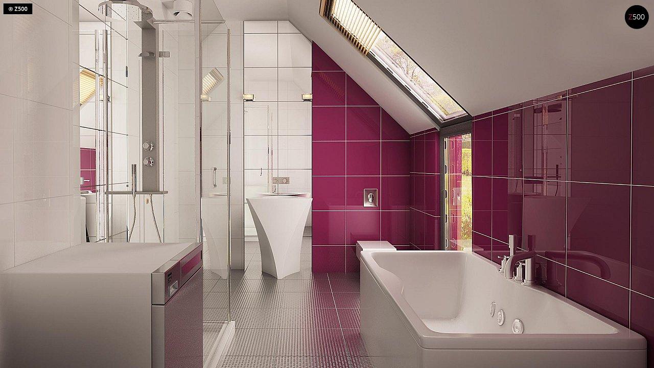 Дом простой энергосберегающей формы со светлым интерьером, подходящий для узкого участка. - фото 8