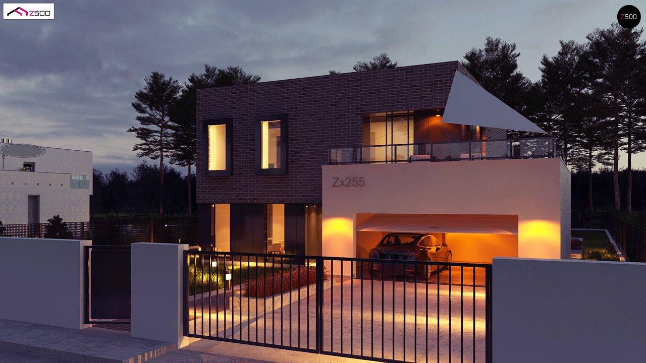 Проект двухэтажного дома с современным фасадом и удобным интерьером. 6