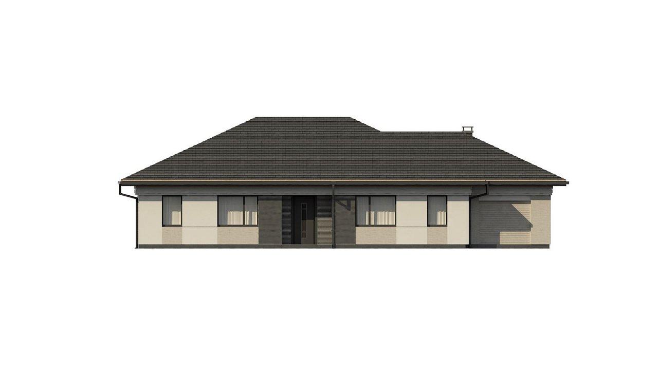 Прекрасный одноэтажный дом в современном стиле и гаражом на одну машину. - фото 7