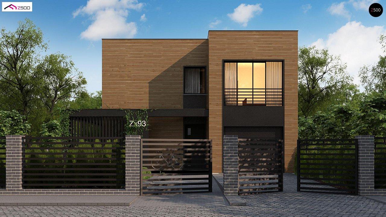 Проект современного двухэтажного дома с вторым светом и большой площадью остекления. - фото 4