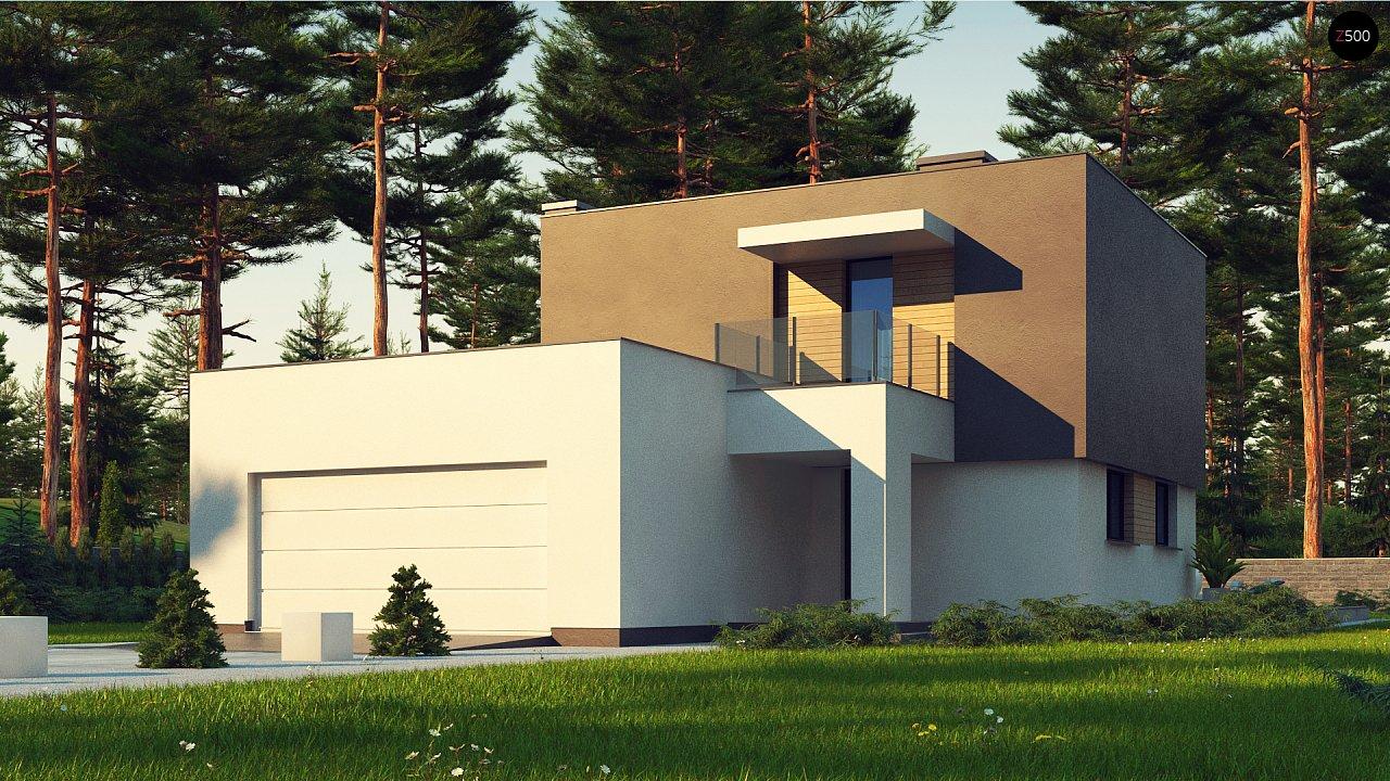 Двухэтажный дом с гаражом на две машины 1