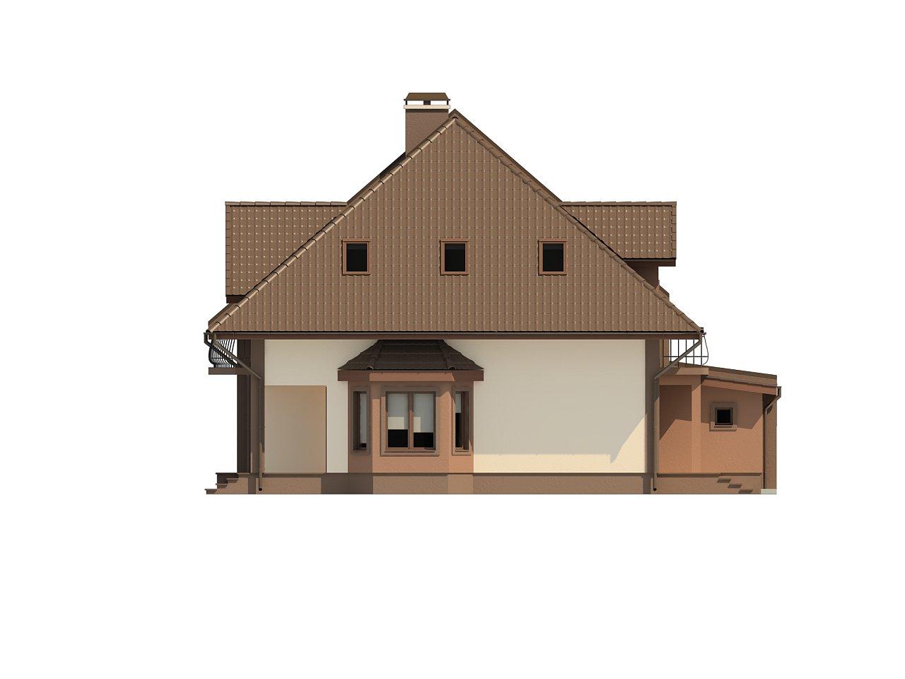 Проект домов близнецов с гаражом и дополнительным помещением на чердаке. 8