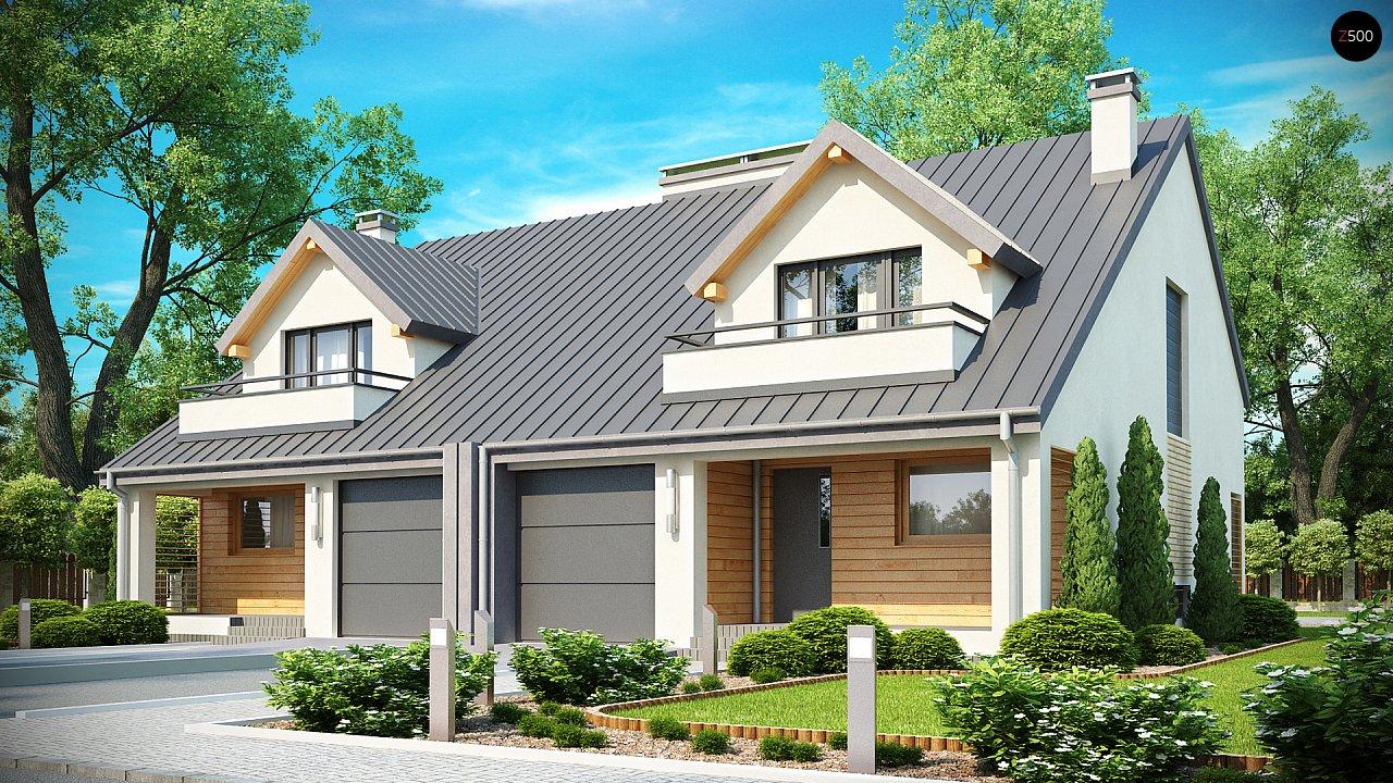 Проект стильного, функционального и недорогого двухсемейного дома. 1