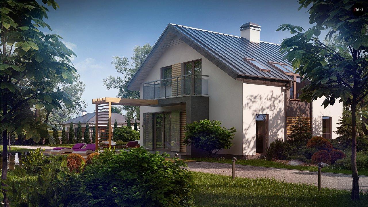 Дом традиционной формы с современными элементами в архитектуре. Уютный и функциональный интерьер. - фото 3