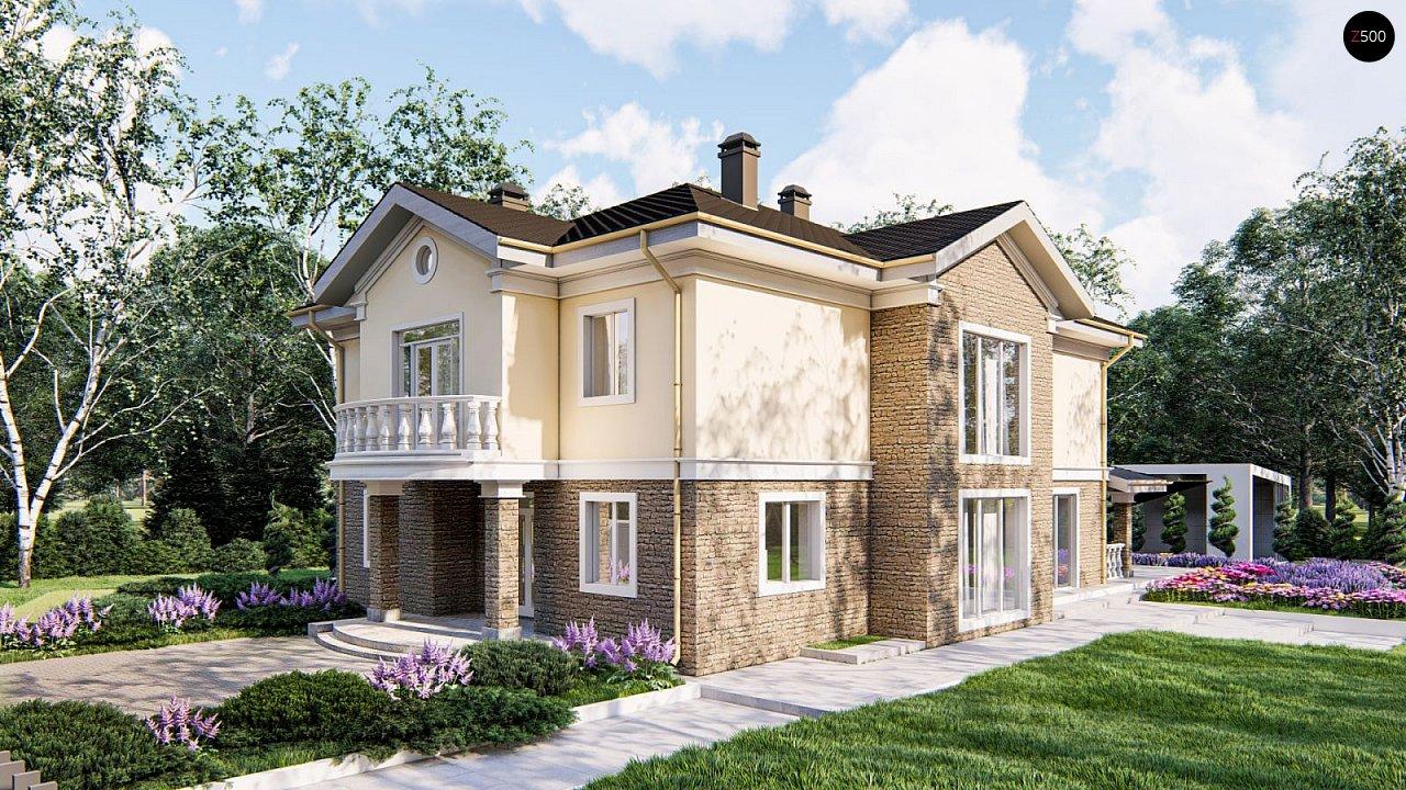 Элегантный двухэтажный классический дом с балконом - фото 2