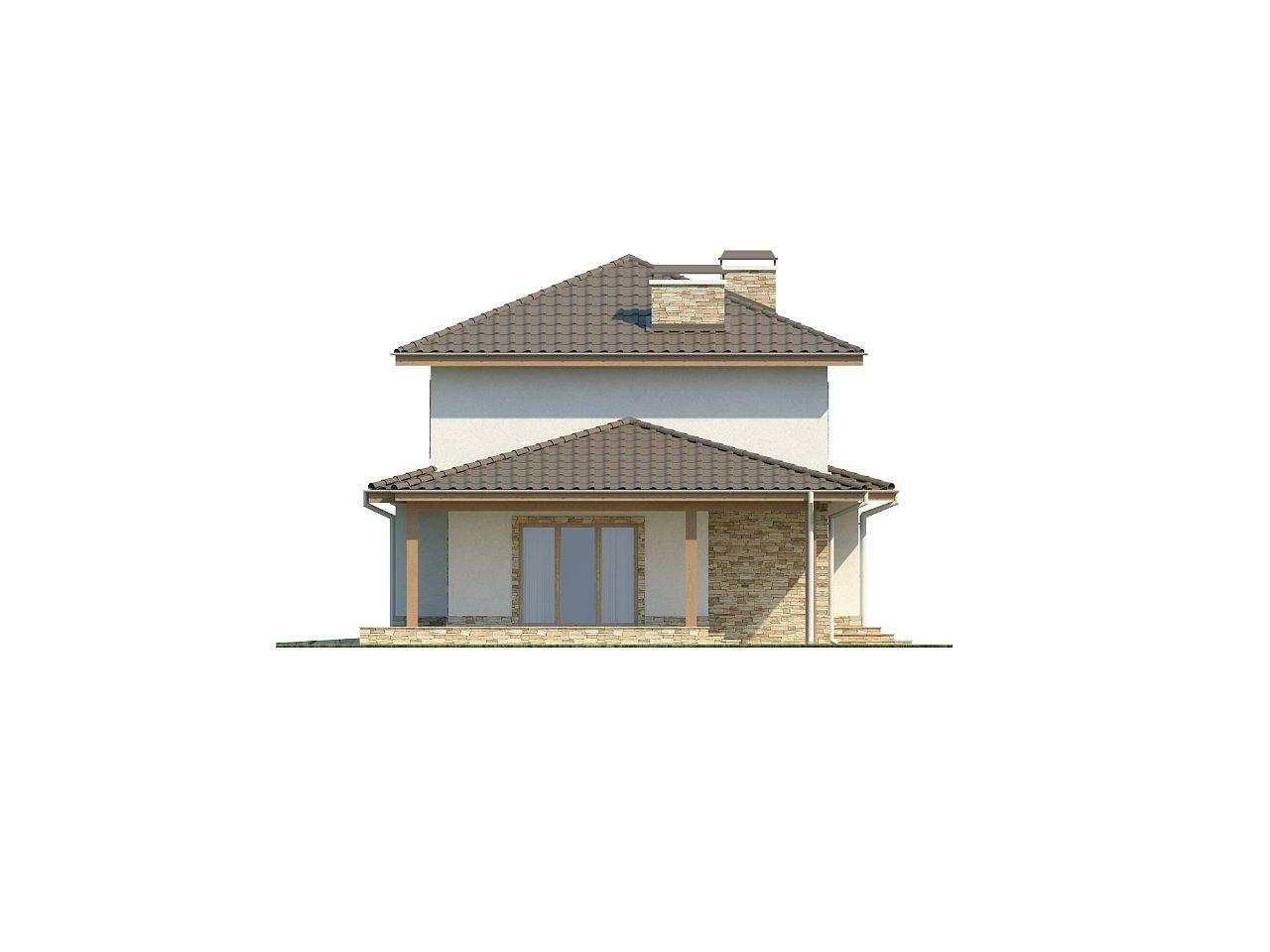 Просторная итальянская двухэтажная вилла с крытой боковой террасой и большим гаражом. - фото 5