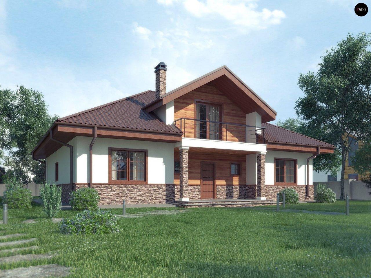 Комфортный дом с открытой мансардой в традиционном стиле (версия проекта Z10) - фото 1