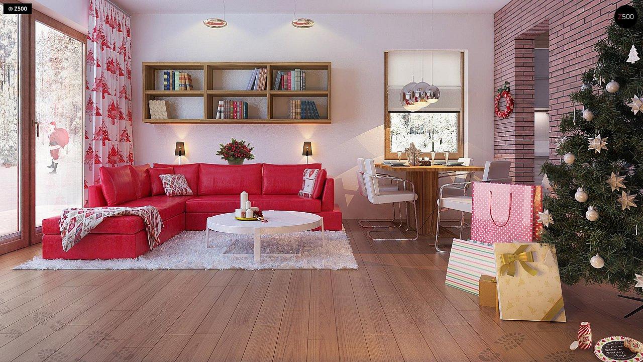 Компактный, уютный одноэтажный дом с двускатной крышей. 6