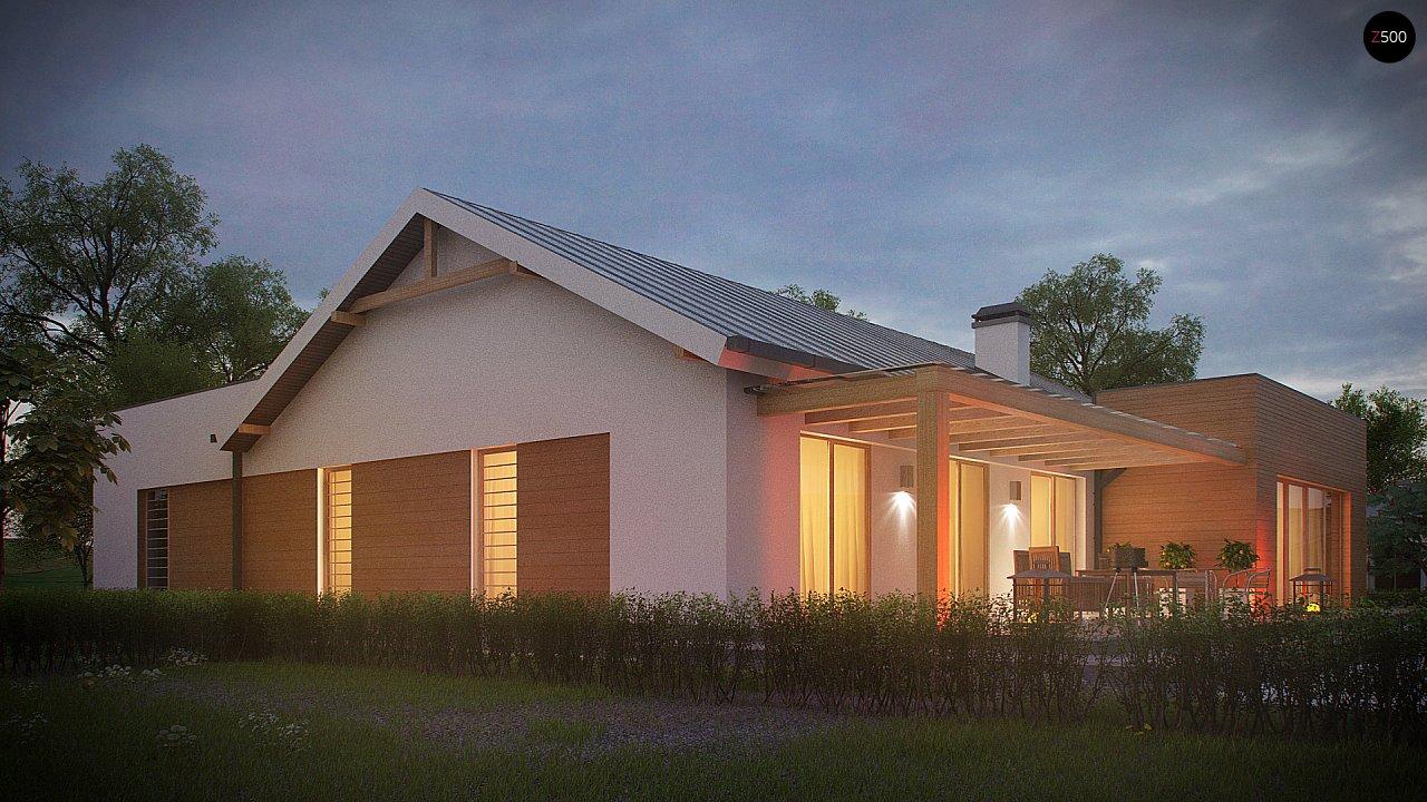Комфортный функциональный одноэтажный дом простой формы и с гаражом для двух авто. 9