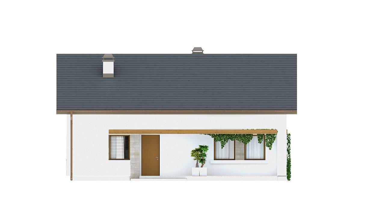 Проект небольшого практичного одноэтажного дома. Есть возможность обустройства чердачного помещения. 21