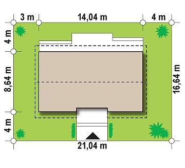 Простой и элегантный одноэтажный дом. план помещений 1