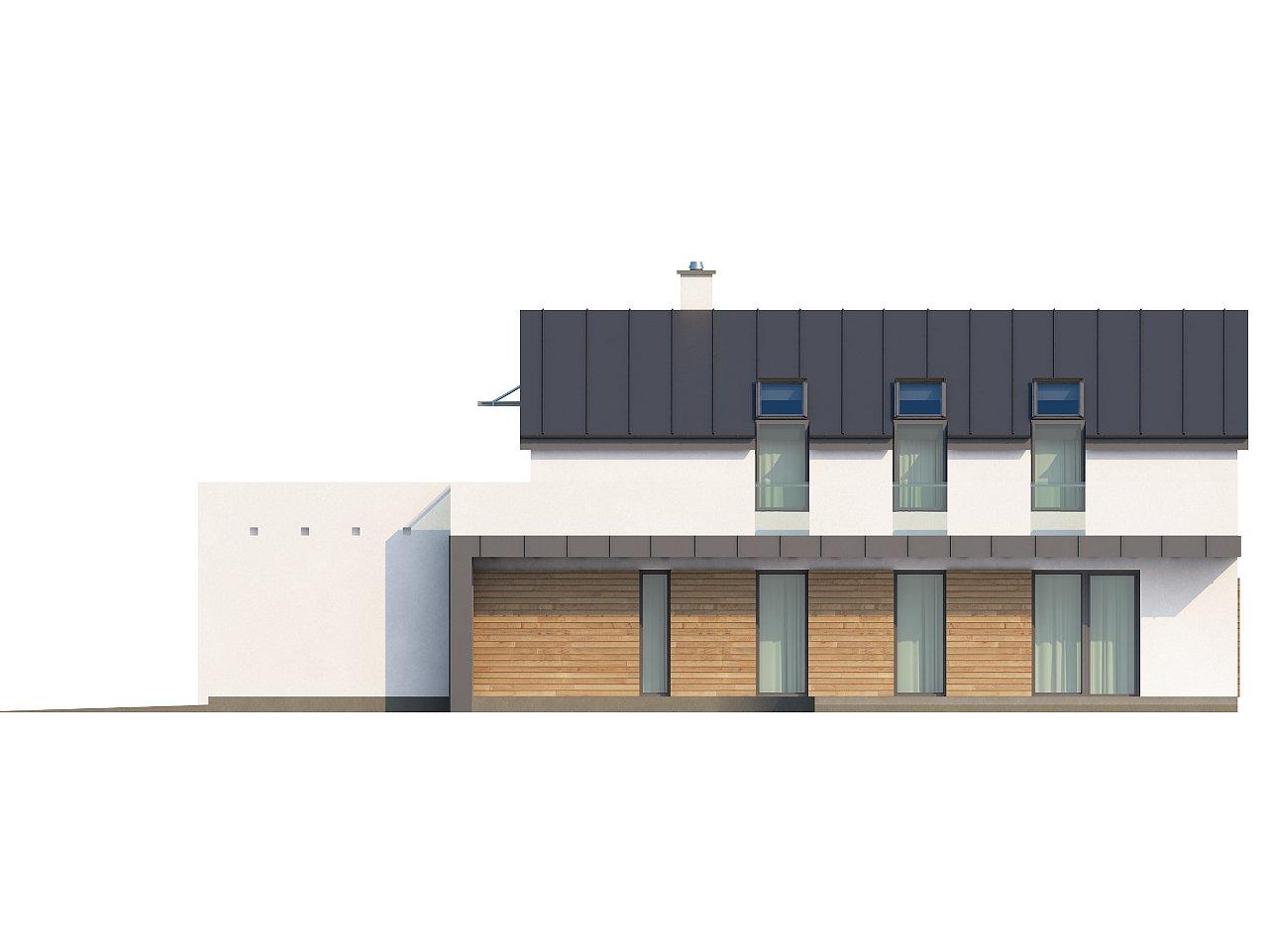 Дом современного простого дизайна. Продольная форма, уютный комфортный интерьер. - фото 19