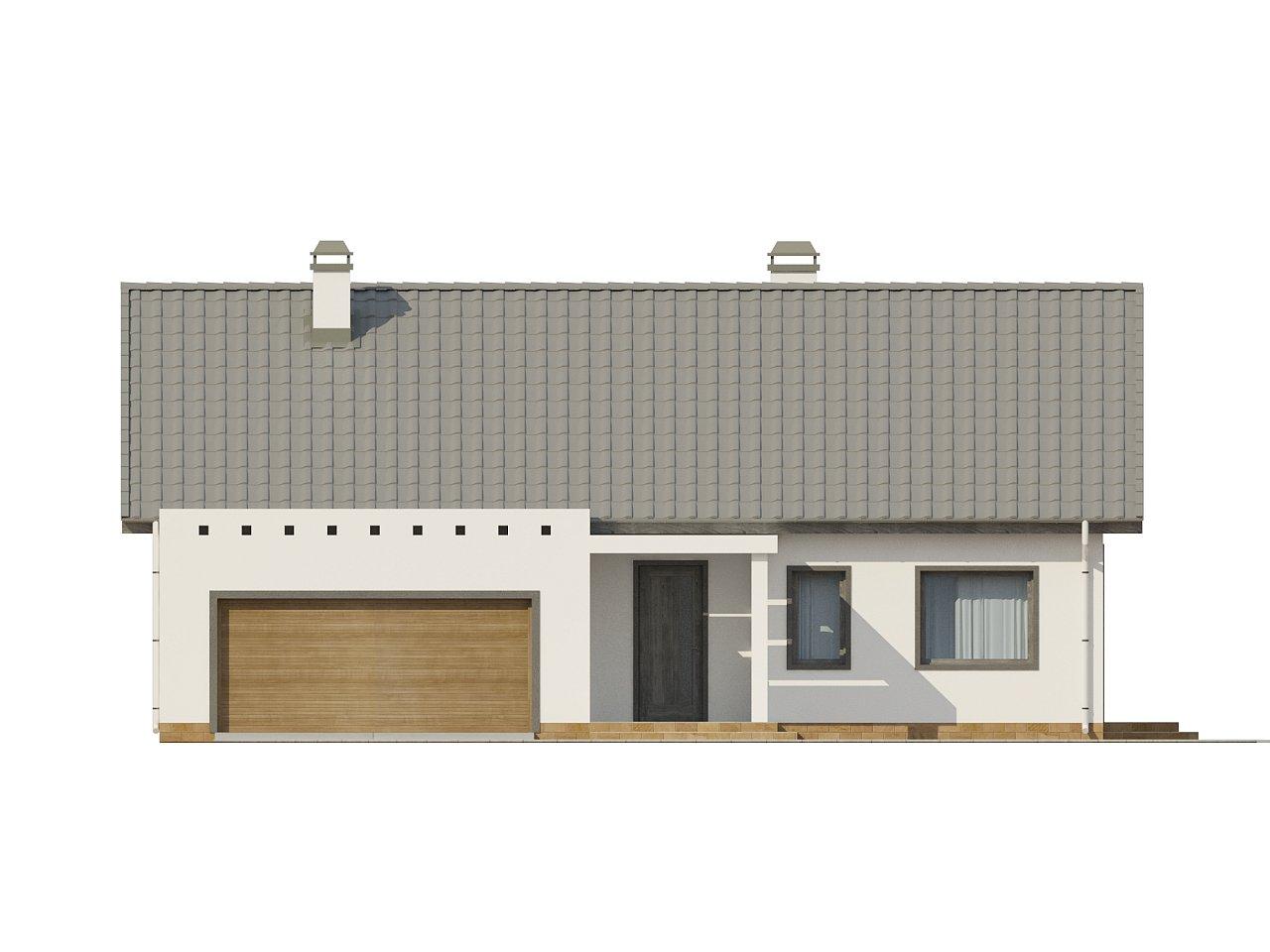 Дом традиционной формы с современными архитектурными дополнениями. Свободная планировка мансарды и антресоль над гостиной. 21