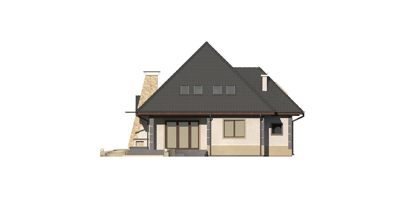 Вариант мансардного дома Z48 без гаража - фото 6