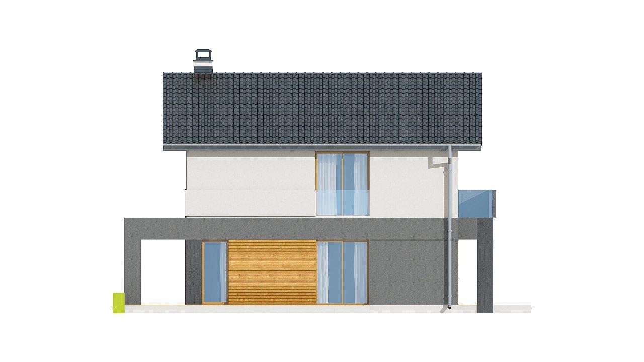 Небольшой двухэтажный дом с современными архитектурными элементами, подходящий для узкого участка. - фото 25