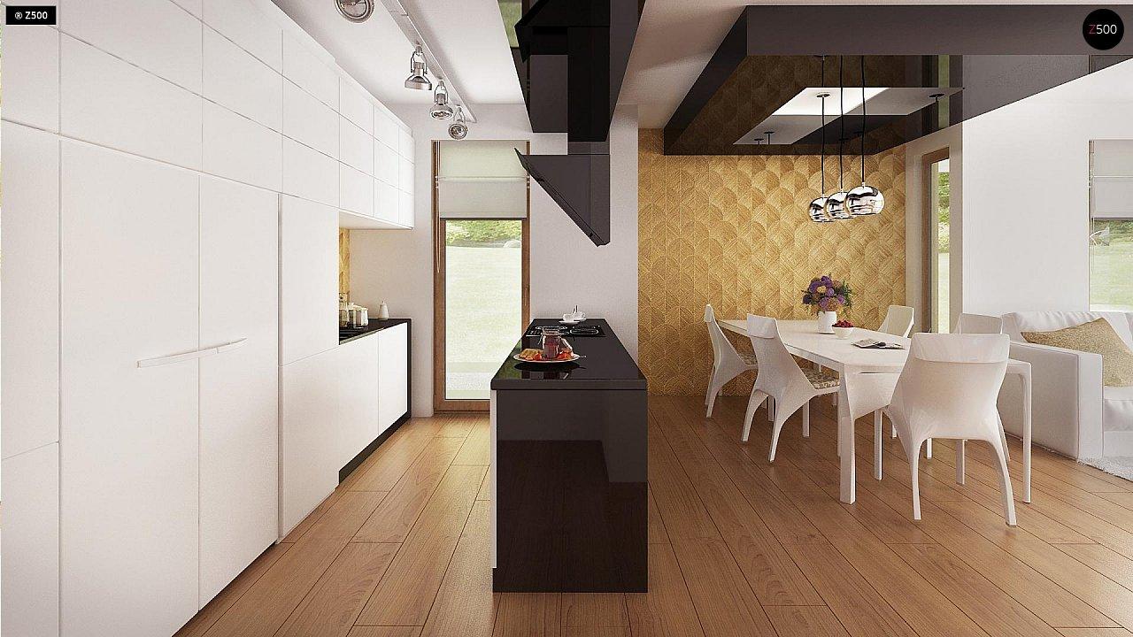 Одноэтажный комфортный дом в стиле хай-тек. 18
