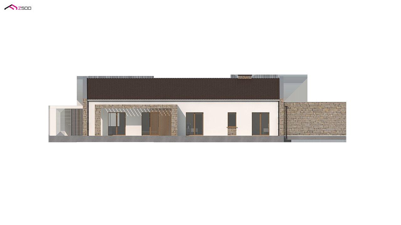Проект для узкого участка без гаража с тремя спальнями 5