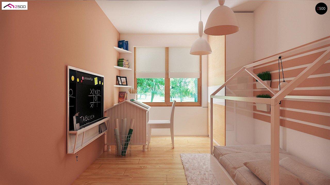Аккуратный одноэтажный дом с деревянной отделкой на фасадах. 13