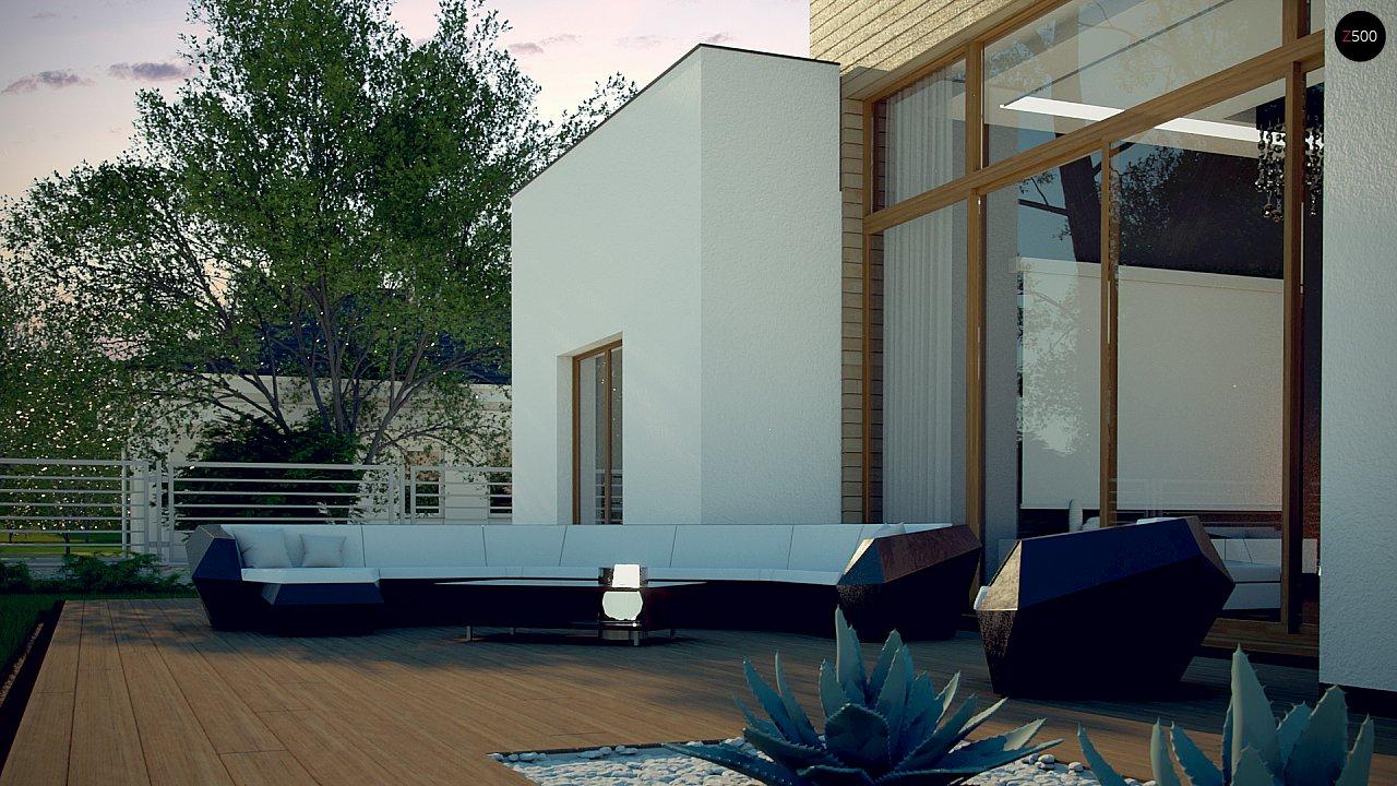 Одноэтажный дом в стиле современного минимализма 8