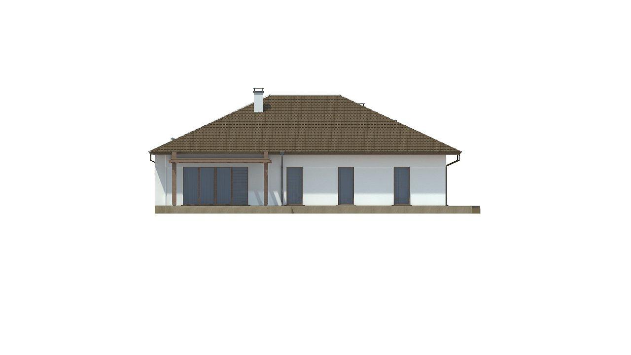 Удобный функциональный одноэтажный дом с гаражом для двух автомобилей. 8