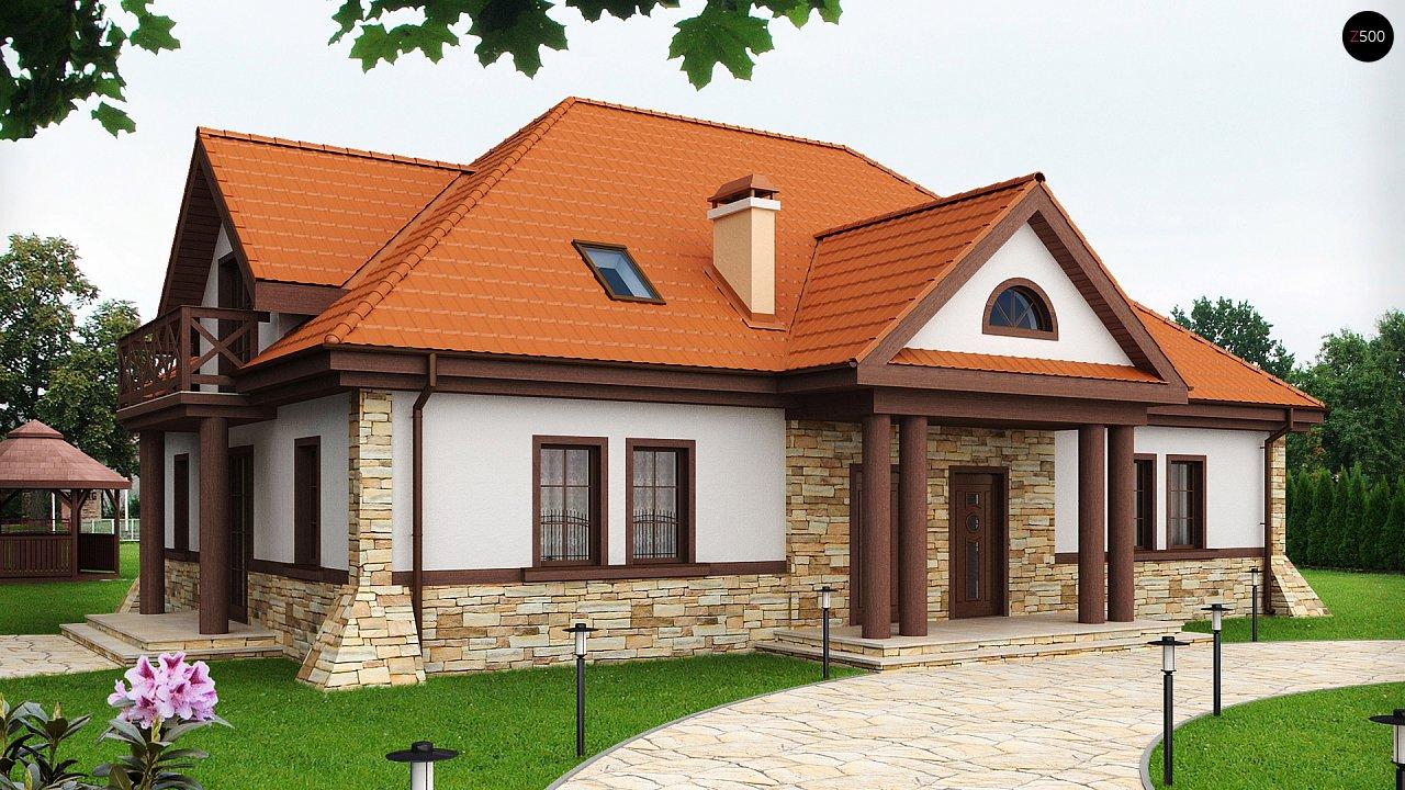 Проект двухсемейного дома в стиле дворянской усадьбы. - фото 1