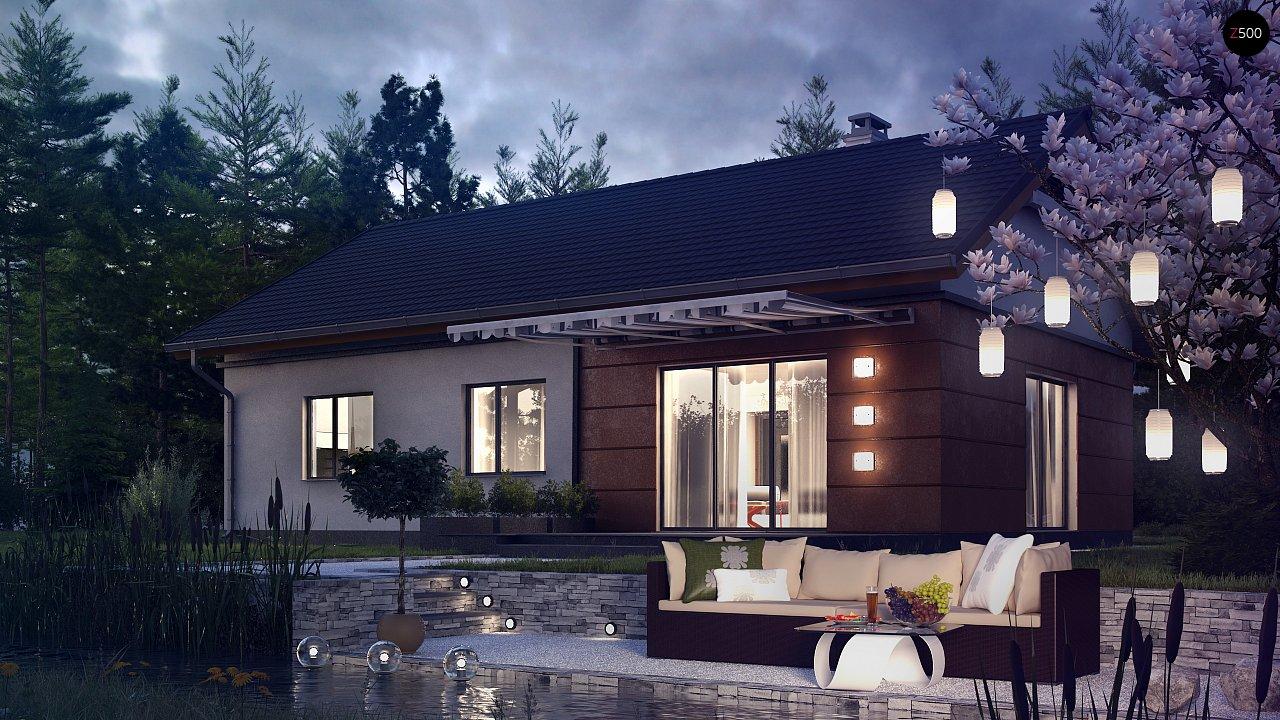 Аккуратный одноэтажный дом в классическом стиле. - фото 3