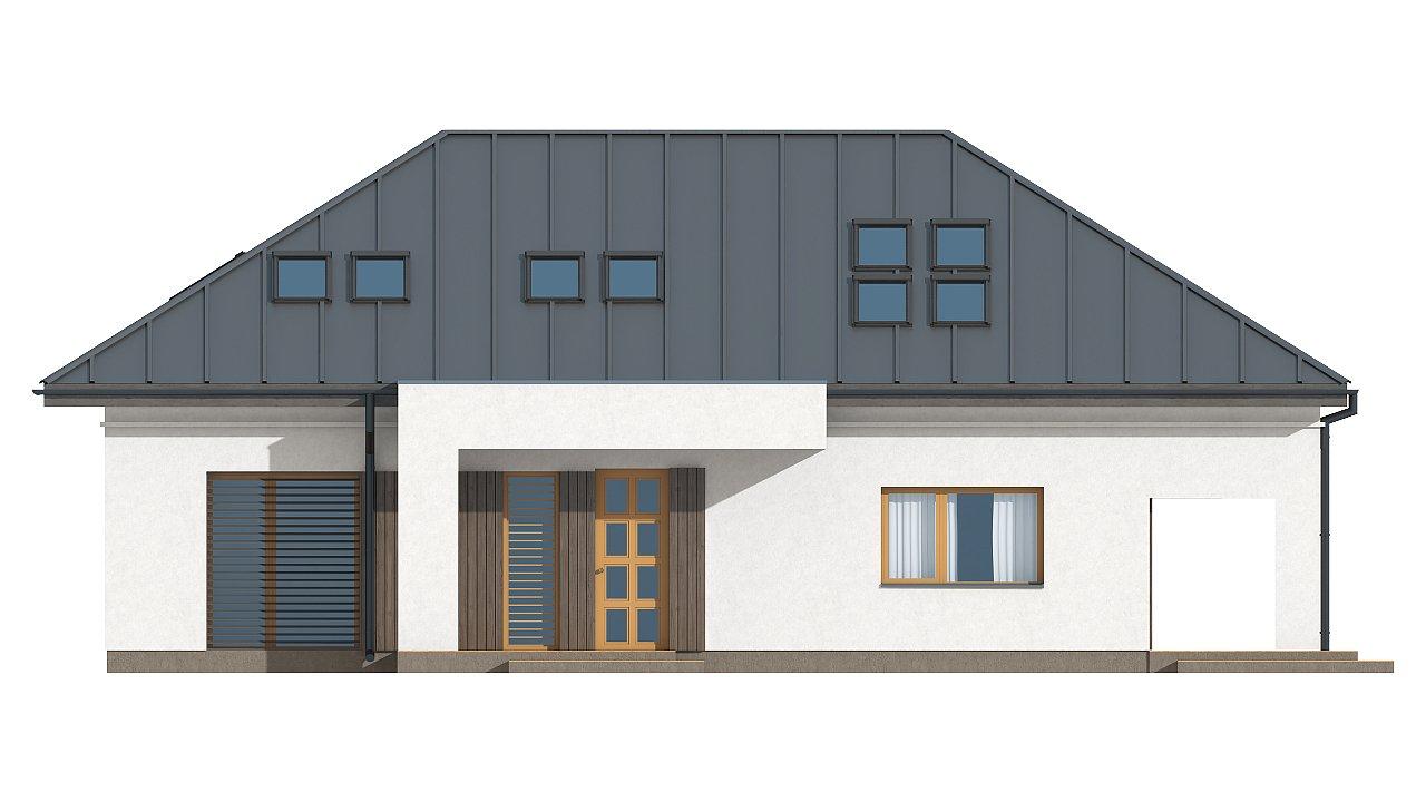 Версия проекта Z85 с современным оформлением фасадов. 3