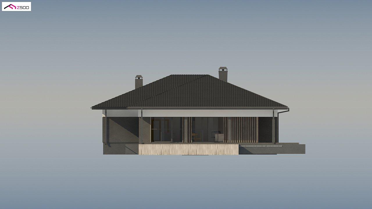 Проект стильного одноэтажного дома в традиционном стиле - фото 9
