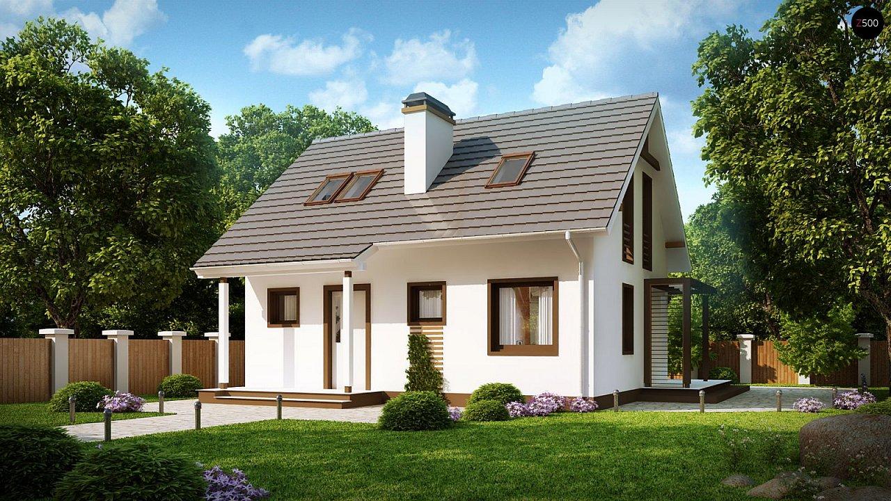 Проект каркасного мансардного дома в классическом дизайне 2