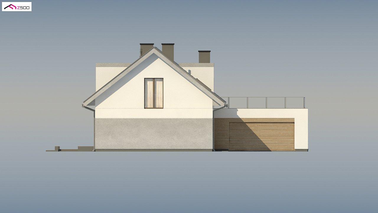 Cтильный мансардный дом с гаражом для двух машин 7