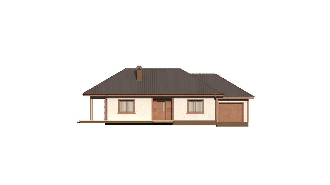 Уютный одноэтажный дом с гаражом на одну машину 4