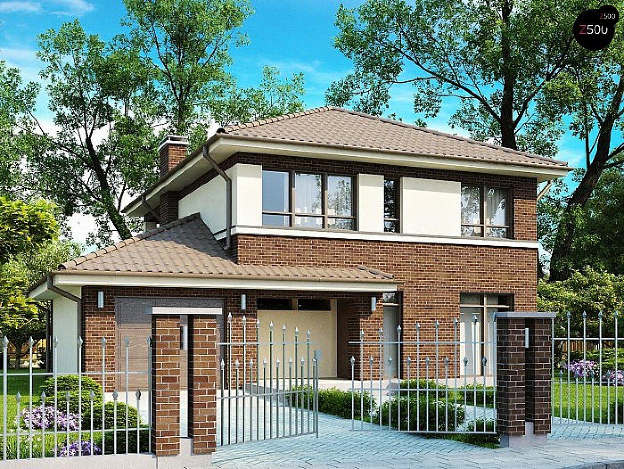 Вариант двухэтажного дома Zx24 с плитами перекрытия 1