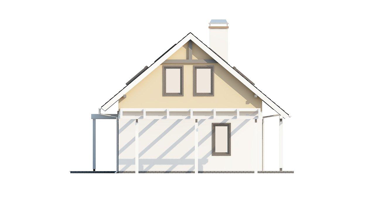 Экономичный в строительстве и реализации дом с удобной планировкой, с навесом для автомобиля. - фото 25