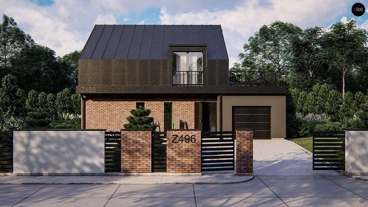 Дом с мансардой, гаражом и большой террасой 6