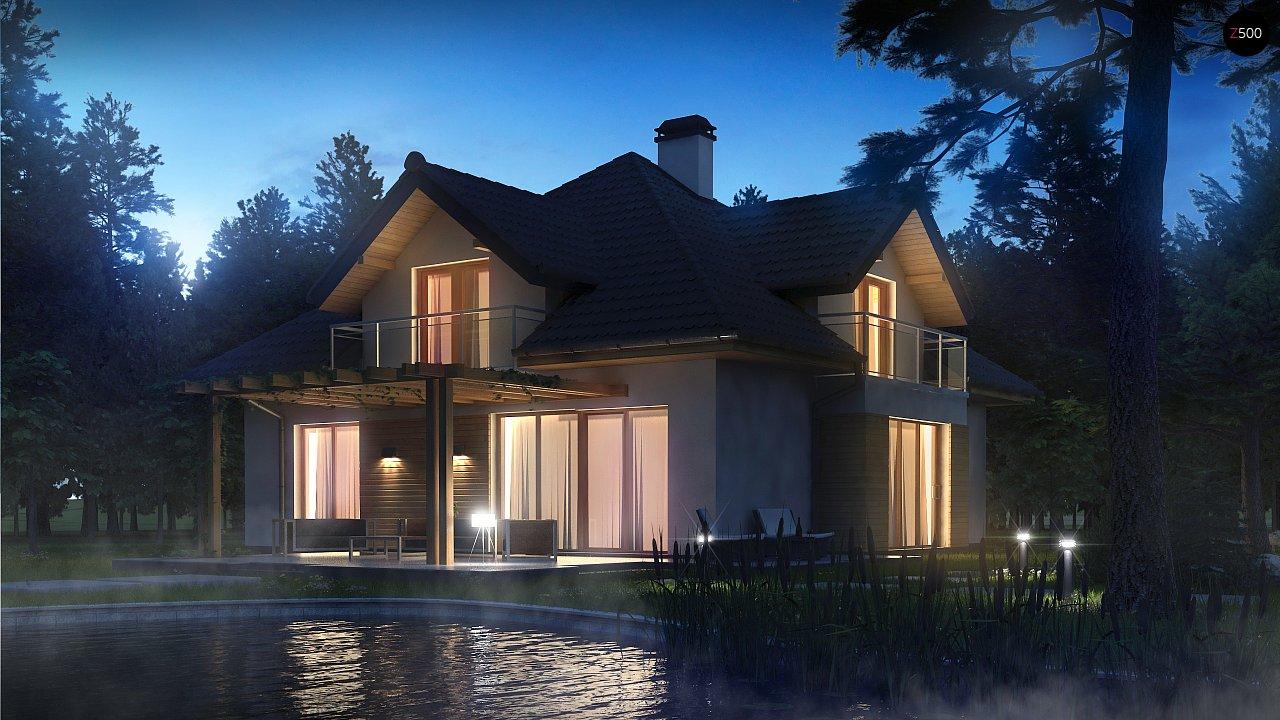 Версия проекта Z270 с альтернативной планировкой мансардного этажа. 4