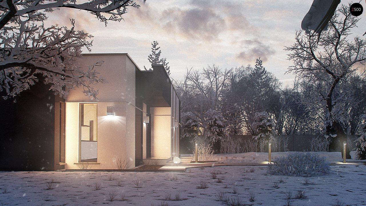 Одноэтажный комфортный дом в стиле хай-тек. 2